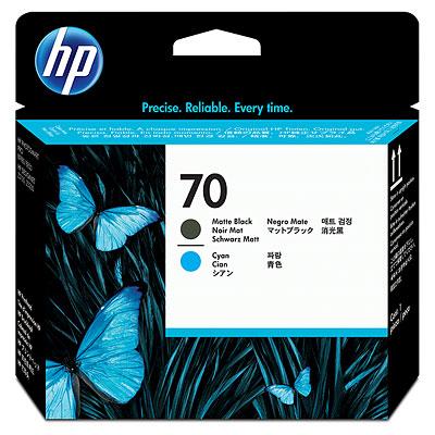 C9404A HP No. 70 Ink Printhead - Matte Black and Cyan